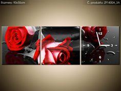 Tlačený obraz s hodinami Roses and spa 90x30cm ZP1400A_3A