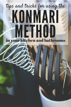 Do you find that you struggle to keep your home clean and organized? Are you always decluttering, only to start over again a few months later? Then maybe the KonMari method is for you! This post will show you how to use the tips and tricks from The Life-Changing Magic of Tidying Up to get your kitchen and bathrooms clean and organized, once and for all! There's even a free printable checklist for the entire KonMari method, so you can be sure you don't miss a thing!