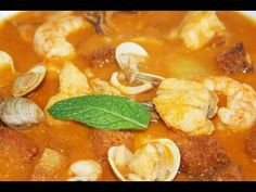 Sopa de pescado y marisco - YouTube