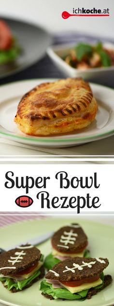 Süß, pikant, knusprig: unsere allerbesten Snack-Rezepte für den Super Bowl! Snacks, Hamburger, Bread, Breakfast, Food, Snack Recipes, Food Food, Tapas Food, Morning Coffee