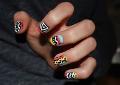 Unique Nail Designs with Tribal Nail Design: Simple Unique Nail Designs Hipsterwall ~ frauenfrisur.com Nails Inspiration