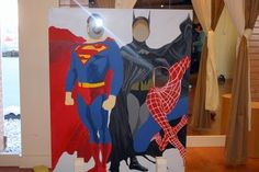Enchanted Expectations: Super Hero Party Photo booth cutouts
