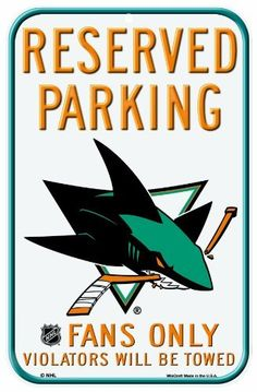 NHL San Jose Sharks 11-by-17 Inch Locker Room Sign by WinCraft. $11.70. Officially licensed 11 x 17 decor signs. Uniquely shaped signs that are produced of durable plastic with die cut hanging hole(s). These signs work well as replacement to a poster because they are nearly indestructible in normal use, and can be washed with soap and water. They work great in outside or indoor applications, and are perfect to hang on doors. Made in USA.