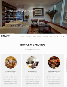This interior design and furniture WordPress theme includes parallax effects, a drag and drop page builder, WooCommerce and WPML support, a responsive layout, 3 page loaders, smooth scrolling, and more.