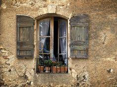 Pots in a window