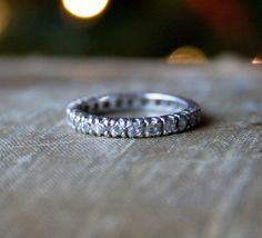 Vintage Wedding Rings 1920 | Vintage ART DECO Ring - Engagement Style Ring - Eternity Band - 1920s ...