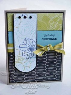 Greeting Card  Urban Chic Happy Birthday Greetings by JanTink, $5.95