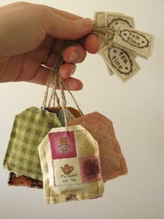Lavender-filled teabag SACHETS (for frangance,not to drink)  = Really cute website = PatchworkPottery: Afternoon Tea and Quilted Crafts