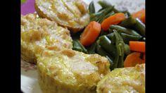 Рецепт закусок,маффины с куриной грудкой и сыром / Muffins recipe with chicken and cheese - YouTube