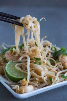 Chopsticks full of Low FODMAP Pad Thai- better than restaurant made!Monash University Certified Low FODMAP Recipe.