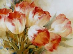 diamond embroidery Picture - More Detailed Picture about New Needlework Diamond Embroidery Flowers Tulip Painting Full Square Drill Cross Stitch Mosaic Yard Canvas Home Decor Picture in Diamond Painting Cross Stitch from Sweet Life Full Drill Diamo Art Floral, Watercolor Artists, Watercolor Flowers, Tulip Painting, Paper Napkins For Decoupage, Mosaic Pictures, Cross Paintings, Flower Paintings, Vintage Diy