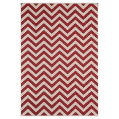 "Indoor/Outdoor Chevron Area Rug - Red (7'-10"" x 10'-10"")"