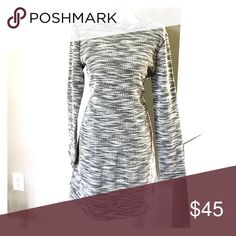 🎉weekly sale🎉Lou & Grey long sleeve dress w/tags Black and off white dress by Lou & Grey. Never worn still new with tags. Weekly sale item, price good through 2/19/2017 Lou & Grey Dresses Long Sleeve