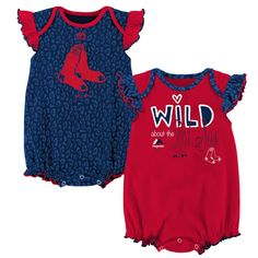 7e7bfb509 Wild About the Red Sox Onesie Duo – babyfans Girl Outfits, Toddler Outfits,  Baby