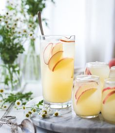 White Nectarine Prosecco Sangría with Ginger & Elderflower