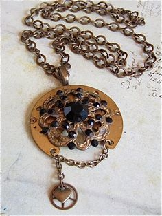 Steampunk pendant -  Gutthiuda - Steampunk Necklace - Repurposed on Etsy.