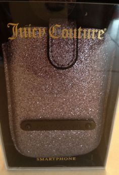 Juicy Couture Smart Phone Case Silver  Glitter  - New #JuicyCouture