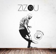 ZIZU http://www.myvinilo.com/vinilos-pop/zizu.html Vinilos decorativos, hogar, decoración, interiores, pared, diseño, grafica, wall decals, stickers, decoration, design, graphics, arte, art, soccer, football, score, goal, player, game, ball, zinedine zidane, allez les bleus.