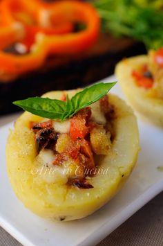 Patate ripiene con peperoni e provola gratinate vickyart arte in cucina