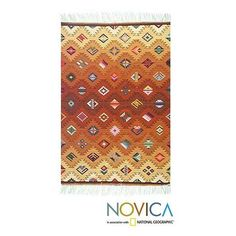 NOVICA Geometric Wool Area Rug (4x5) ($478) ❤ liked on Polyvore featuring home, rugs, 3x5 and 4x6, andean wool rugs, area rugs, home decor, patterned rugs, multi colored area rugs, geometric wool rug and colorful area rugs