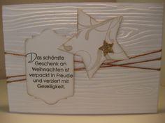 Stampin Up! Weihnachten, Sterne, Christmas, Wunderbare Weihnachtsgrüße, Everything Eleanore, Prägeform Holzmaserung