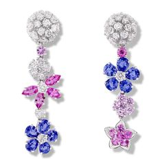 Dazzle yourself with Van Cleef & Arpels' Folie des Prés earclips in white gold with mauve and pink sapphires and diamonds! These earclips echo the natural beauty of springtime blooms. More jewels here: http://balharbourshops.com/limited-edition-archives