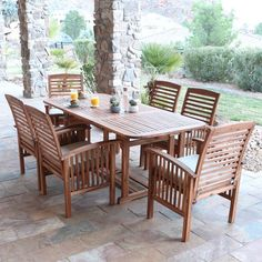 How To Pick The Best Outdoor Dining Set? outdoor dining set we furniture solid acacia wood patio dining set OWSAHOJ Outdoor Dining Furniture, Outdoor Dining Set, Teak Furniture, Patio Furniture Sets, Patio Dining, Patio Table, Dining Sets, Table Bench, Teak Table