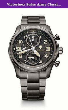 Victorinox Swiss Army Classic Infantry Men's Automatic Watch 241460. Victorinox Swiss Army, Classic Infantry, Men's Watch, Stainless Steel Gunmetal Ion Plated Case, Stainless Steel PVD Coated Bracelet, Swiss Mechanical Automatic (Self-Winding), 241460.