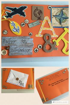 Geburtstagskarte Reise. Birthday Card Travel.
