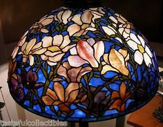 Tiffany Reproduction Stained Glass Lamp Shade Magnolia