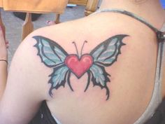 Heart With Butterfly Wings Tattoo | Tattoo Styles