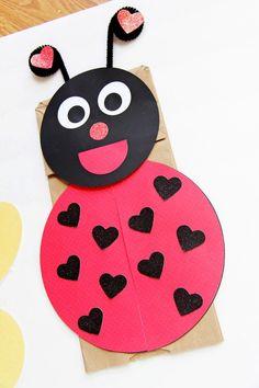 Ladybug Paperbag Puppet Craft