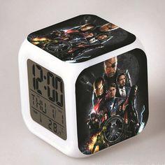 Avenger Classic Movie The Avengers Around LED Alarm Clock despertador Digital Clock Led Alarm Clock, Gifts For Boys, Digital Alarm Clock, Marvel Avengers, Gadgets, Cartoon, Classic, Hulk, Iron Man