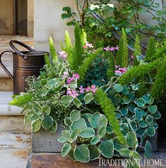 Picturesque Courtyard Garden | Traditional Home