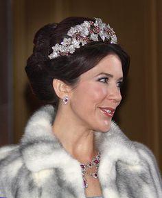 Crown Princess Mary has News Year reception at Royal Palace Amalienborg in Copenhagen - See this image on Photobucket.
