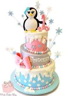 Francesca's Winter Wonderland Birthday Cake by Pink Cake Box in Denville, NJ. Winter Wonderland Birthday, Winter Birthday, First Birthday Decorations, First Birthday Cakes, Birthday Ideas, Birthday Supplies, 2nd Birthday, Cupcakes, Cupcake Cakes