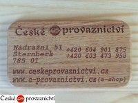 Vizitka dřevěná 9x4mm