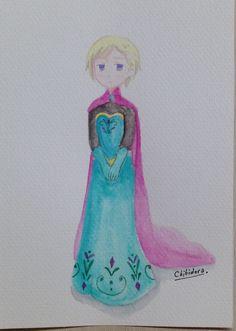 Norway as Queen Elsa  ❄️Chibidora❄️
