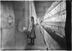 A moments glimpse of the outer world. Said she was 11 years old. Been working over a year, November 1908