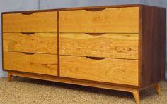 Danish Modern dresser Danish Modern, Mid-century Modern, Modern Design, 6 Drawer Dresser, Drawers, Modern Dresser, Bedroom Dressers, Furniture Legs, Handmade Furniture