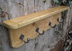 Reclaimed Antique Pine Rack, Hook Shelf - kitchen accessories