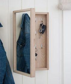 Nøkkelskap med speil Nanna i eik - Nordlys
