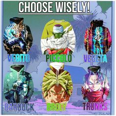 Choose your favourite character! Get hoodies