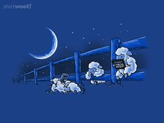 """Siiiigh.  I missed the chance of ordering this """"Counting Sheep"""" tee. :("""