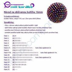 beaded peyote ball tutorial-navod_obsivana_kulicka_16mm
