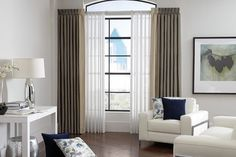 Larg Window and Curtains & Draperies of Indianapolis- Custom Styles at Affordabl - contemporary - Living Room - Indianapolis - Abda Custom Window Fashions