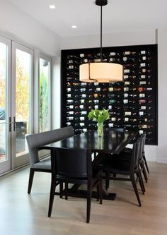 Wine Wall Decor for Kitchen. 20 Wine Wall Decor for Kitchen. Home Decor Kitchen Wall Decor Ideas Wine Wall Decor, Wine Rack Wall, Unique Wall Decor, Bar Deco, Black And White Dining Room, Black White, White Wine, Modern Wine Rack, Wine Display