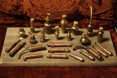 Steampunk Alchemist's vials by Sebbal on DeviantArt Fake Fire, Steampunk Gadgets, Second Hand Stores, Walmart Jewelry, Steampunk Costume, Fimo Clay, Larp, Wands, Costume Jewelry