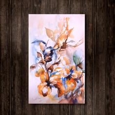 #Abstract Florals #Watercolor Painting Original Watercolor Painting Floral…