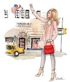 New York City based artist Inslee Fariss creates watercolor illustrations for weddings, events, brands and fine art commissions Illustration Sketches, Watercolor Illustration, Watercolor Art, Arte Fashion, City Sketch, Fashion Sketches, Fashion Illustrations, Amazing Art, Artsy
